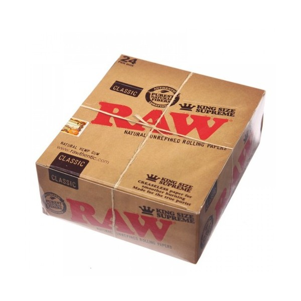 Raw King Size Supreme - Caja 24 Libritos