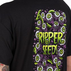 Camiseta Ripper Seeds Worms&Eyes Negra Hombre - M