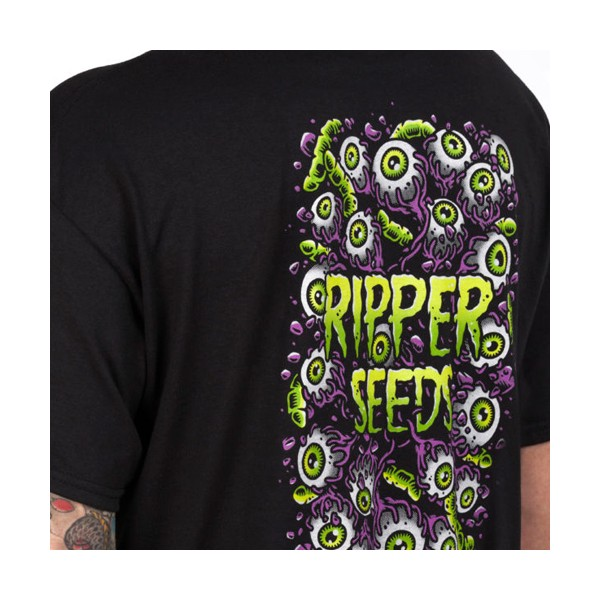 Camiseta Ripper Seeds Worms&Eyes Negra Hombre - L