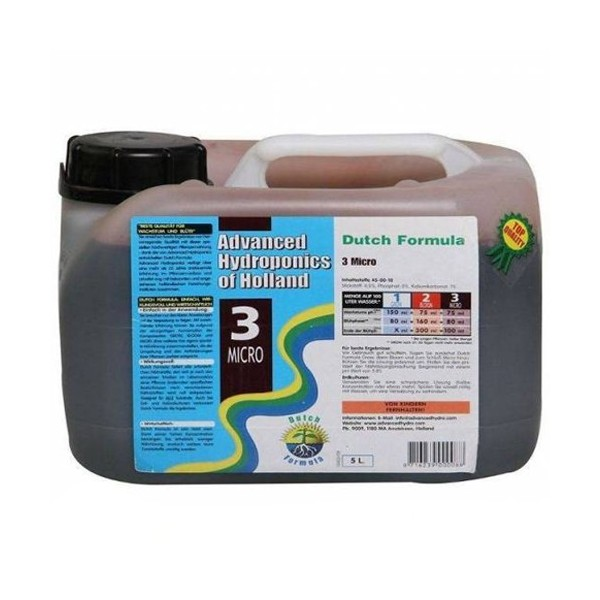 Dutch Formula 3 Micro Advanced Hydroponics - 5L